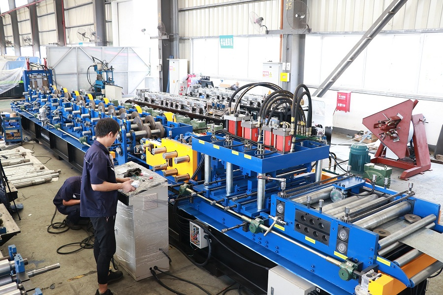 Full Automatic C/Z Purlin Roll Forming Machine FX350